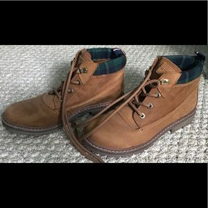 Tommy Hilfiger leather booties, size 7.5